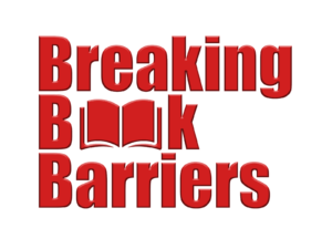 Breaking Book Barriers is written in large red font