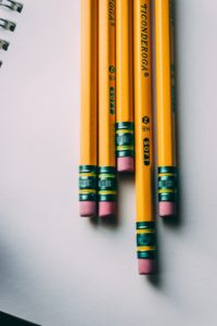 Yellow number 2 pencils