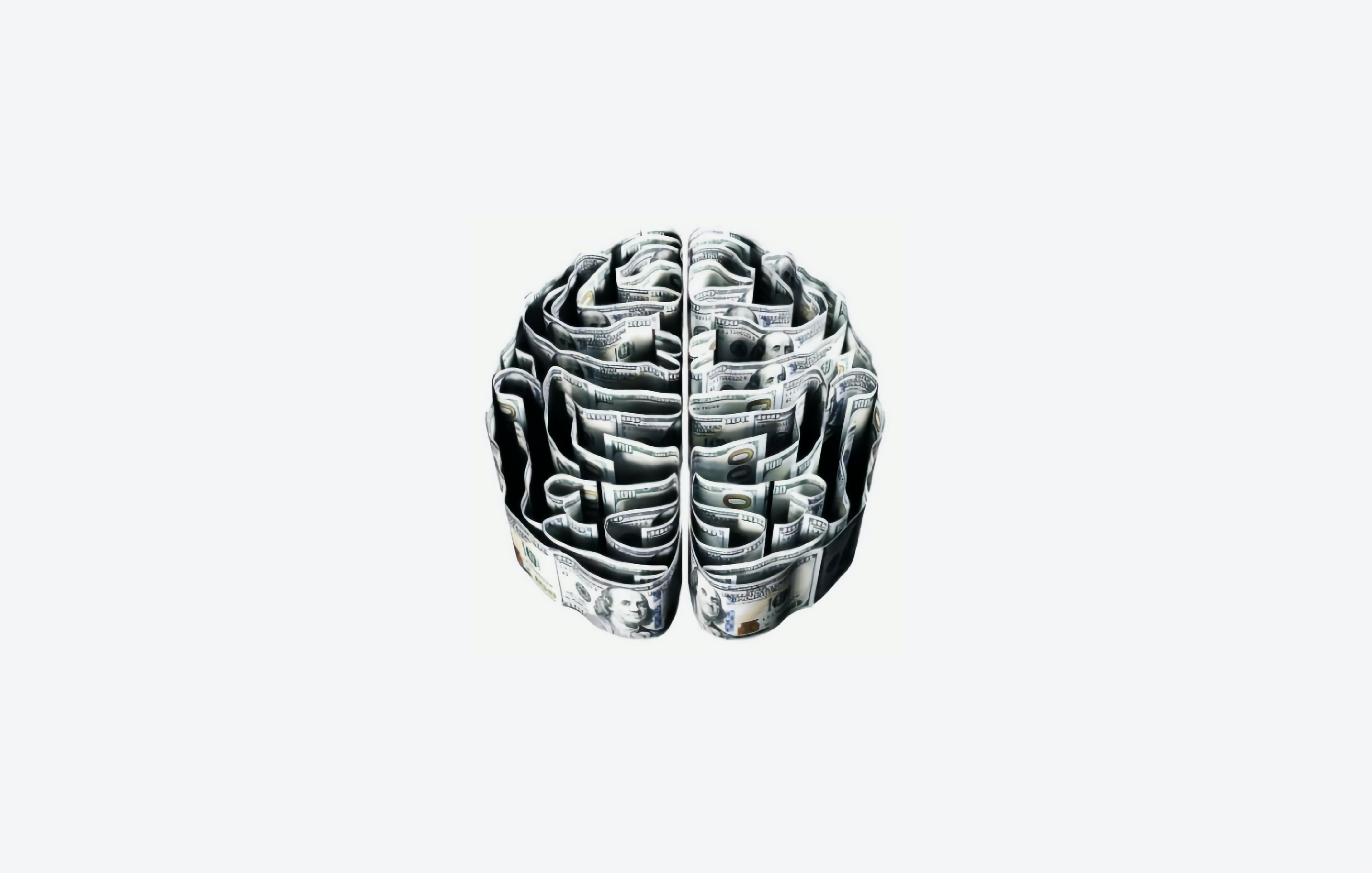 A handrawn 3-D maze in the shape of a human brain. Black on a white background.